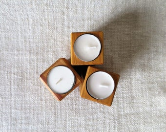 Cedar Tealight Holders