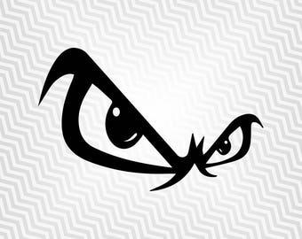 No Fear Svg, Evil Look Svg, Vector art, Cricut, Silhouette Cameo, die cut, instant download, Digital Cut, Print Files, Pdf, Svg, Eps, Dxf