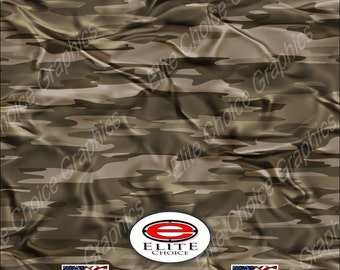 "Traditional Desert Cloth Tree Camo 15""x52"" or 24""x52"" Truck/Pattern Print Tree Real Camouflage Sticker Roll or Sheet"