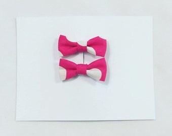 Candy Pop polka dot bow hair clips