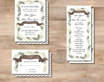 L+N Wedding Invitation Suite