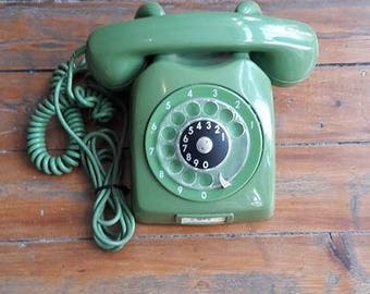 Vintage Green Ericsson Rotary Phone