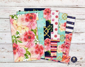 Planner Dividers Personal size, A5 Planner Dividers set of 6, Floral Planner Dividers l Flora