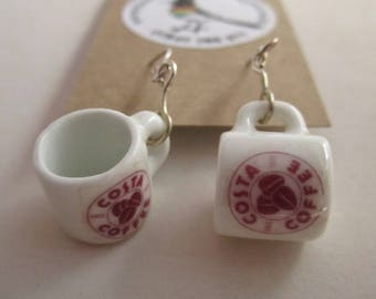 Costa Coffee   Mug Earrings