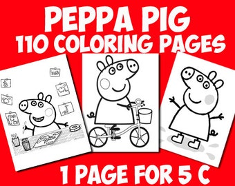 Peppa pig coloring pages printable for children of all ages.