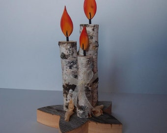 WOOD CANDLES as Decoration