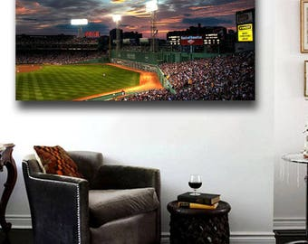 Fenway Park Sunset Panoramic Canvas Print Boston Red Sox     36 Part 93