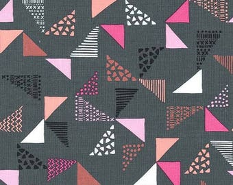 Michael Miller Fabric  - Just Right - Gray - CX7380 - Cotton fabric by the yard