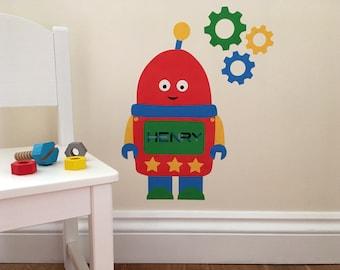 Personalised Robot Wall Sticker, Robot Decal, Personalised Wall Sticker, Robot, Wall Stickers, Boys Room, Robot Wall Art, Robot Bedroom,