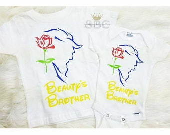 Beauty and the Beast Brother Shirt or Onesie