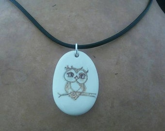 Beautiful Owl Bone Necklace