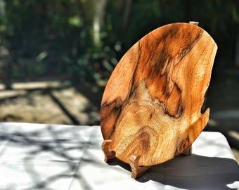 Hawaiian Wood Bowl Koa - Handmade lathe turned wood fifth anniversary Housewarming Wedding gift
