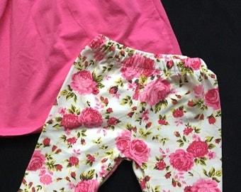 Floral ruffle leggings
