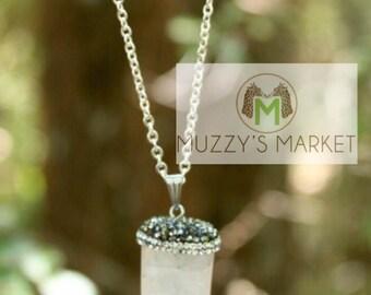 White Tusk Stone Necklace