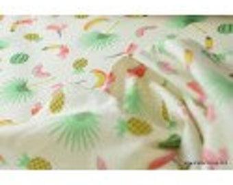 Parrot CARIBBEAN x 50cm printed cotton Poplin fabric