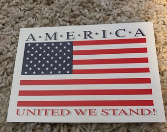 Vintage America United We Stand Patriotic Greeting Cards Never opened