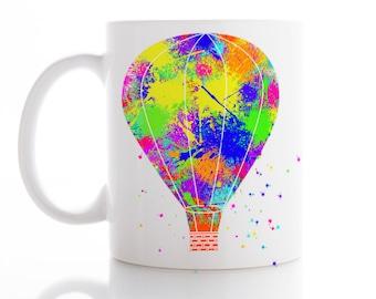 Air Balloon Mug, Ballet Mug, Coffee Mug, Tea Mug,  Unique Mug, Funny Mug, Watercolor Ceramic Mug, Kid Mug
