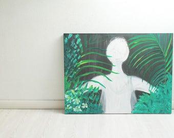 Original. Dive. Acrylic on canvas original.