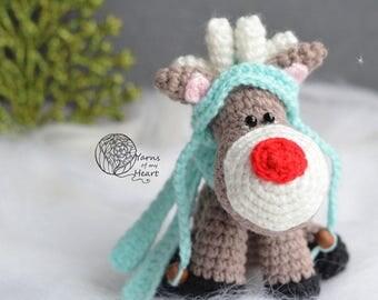 Crochet reindeer pattern, Christmas reindeer crochet pattern, amigurumi reindeer, crochet deer pattern