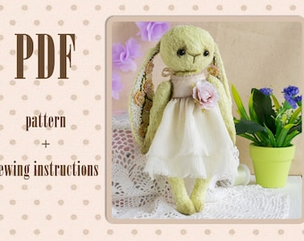 PDF Pattern & Tutorials for Teddy bunny viscose for 9 inches author Dubyanskaya Sewing Digital Download