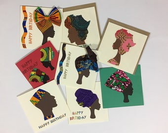 African cards etsy pack of 8 birthday cards save over 6 gbp assorted african birthday cards bookmarktalkfo Gallery