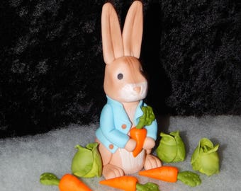 Peter Rabbit Bunny With Veggies Cake Topper