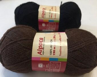 100% Alpaca yarn, Set of 4 skeins: 200g/7oz - 760m/832 yards