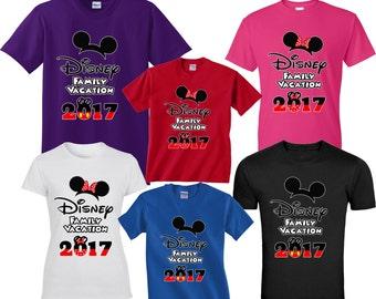 Disney World DISNEY trip FAMILY VACATION 2017 T-Shirts  Disney All Sizes Minnie & Mickey
