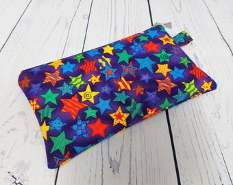 Lápiz caso escuela suministros bolsa nociones Gadget bolsa de cremallera lápiz artesanal bolso cremallera pequeña bolsa lápiz bolsa tote concepto bolsa de estrellas