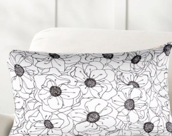 Botanical Rectangular Pillow with or without Stuffing