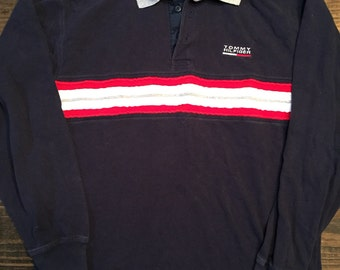 Tommy Hilfiger Long Sleeve Polo Vintage 90s
