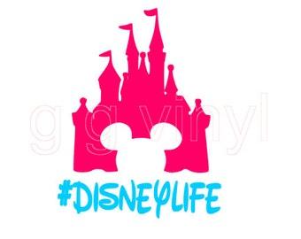 SVG Disney World Cutting File -  Disney SVG File Mickey Castle #disneylife Disney Life SVG