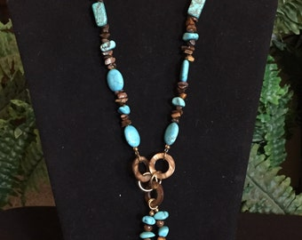 Turquoise and Tiger Eye Necklace