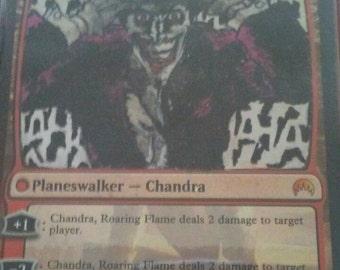 Mtg Chandra flip planeswalker altered to be the joker