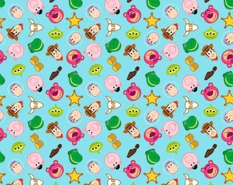 Disney Toy Story Emoji Cotton fabric