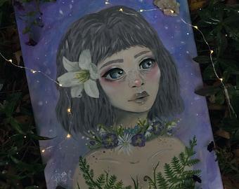 Flower Girl 8x10 Print of Original Painting