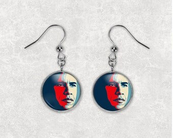 Obama Earrings Obama Jewelry President Obama OE1