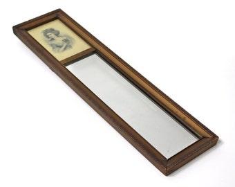 Vintage Mirror with Inset Portrait from Labadie Art Store Kalamazoo, Michigan