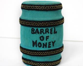 Vintage Barrel of Money Bank