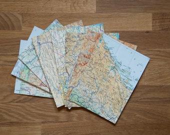 Map postcards / vintage / greeting cards