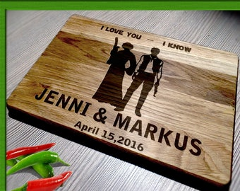 Star wars Gift / Wedding Gift Cutting Board / Cutting Board  Wedding Gift / star wars Wedding gift / star wars Cutting Board /
