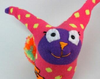 Sock Bunny, Sock Rabbit, Easter Bunny, Dot dot Bunny, Handmade Sock Bunny Plush, Bunny Toy, One of A Kind, Rabbit Stuffed Animal