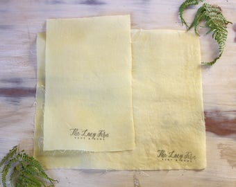 Beeswax Wraps, Organic Fair Trade Linen with Local Ventura County Organic Beeswax, Fabric Wrap, Set of Two