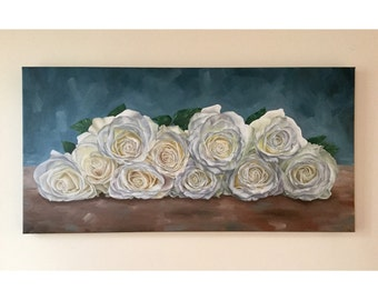 White Roses Limited Edition Giclee Print