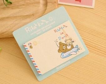 Rilakkuma in Paris / Rilakkuma Sticky Notes / Rilakkuma Stationary / Cute Stationery / Cute / Cute Sticky Notes / Office Supplies