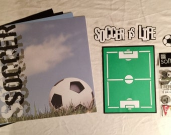 Soccer is Life Scrapbooking Kit