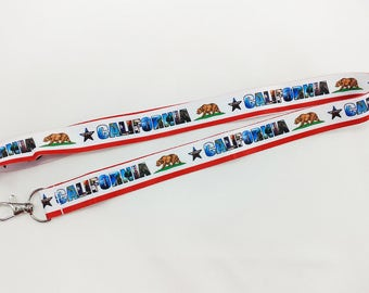California lanyard/keychain with clip for keys or id badges
