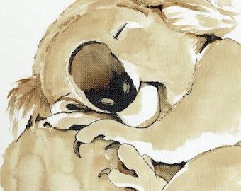 Sleepy Koala Before Coffee