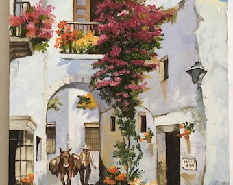 Beautiful oil painting scene