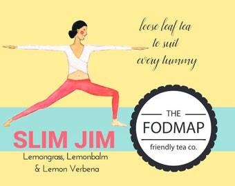 FODMAP friendly loose leaf tea // Slim Jim // Skinny tea // (40g - 52 serves) (85g - 109 serves) // Weight loss // Pre-workout drink